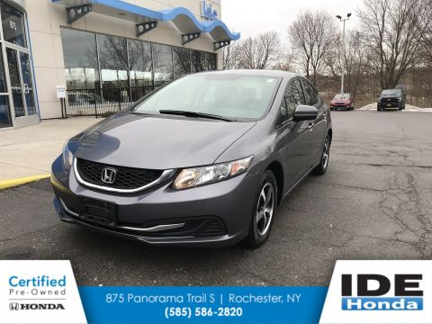Certified Pre-Owned 2015 Honda Civic Sedan SE FWD 4dr Car