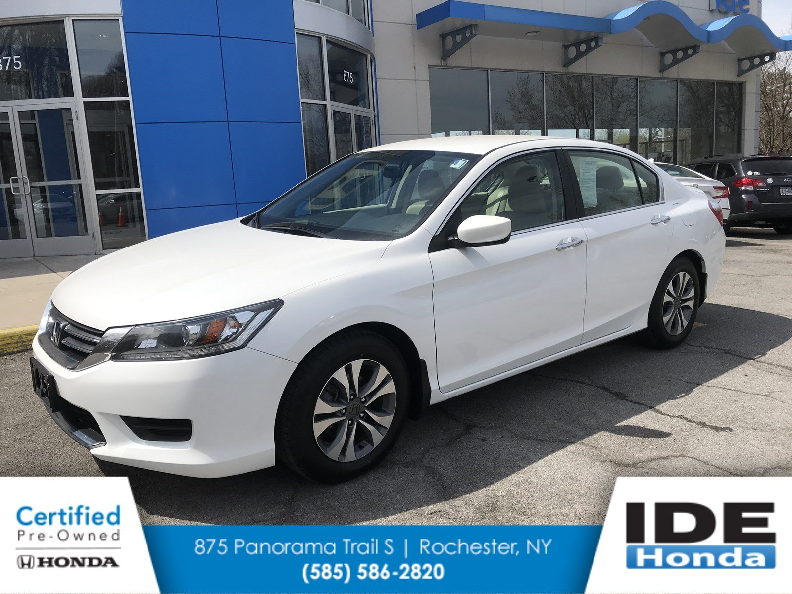 Certified Pre Owned 2015 Honda Accord Sedan LX