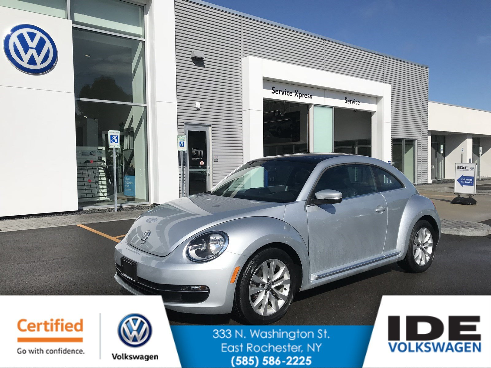 Certified Pre-Owned 2013 Volkswagen Beetle Coupe 2.0L TDI w/Suroof